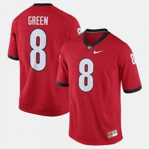 For Men's GA Bulldogs #8 A.J. Green Red Alumni Football Game Jersey 496068-340
