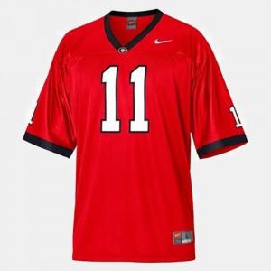 Men GA Bulldogs #11 Aaron Murray Red College Football Jersey 407069-771