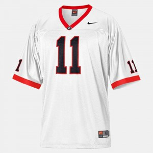 Mens Georgia #11 Aaron Murray White College Football Jersey 581026-129
