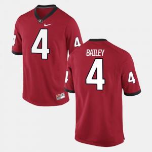 Men GA Bulldogs #4 Champ Bailey Red Alumni Football Game Jersey 827442-917