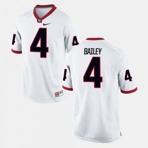 Men's Georgia #4 Champ Bailey White Alumni Football Game Jersey 808415-922