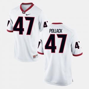 For Men UGA #47 David Pollack White Alumni Football Game Jersey 147996-466