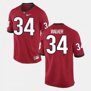 Men's Georgia Bulldogs #34 Herschel Walker Red Alumni Football Game Jersey 753811-720