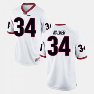 Men's UGA #34 Herschel Walker White Alumni Football Game Jersey 421744-351