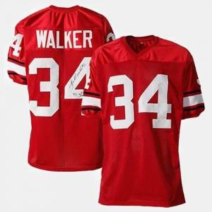 For Men University of Georgia #34 Herschel Walker Red College Football Jersey 646468-829