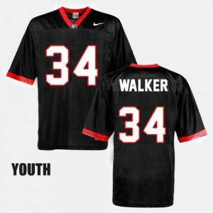 Youth(Kids) Georgia Bulldogs #34 Herschel Walker Black College Football Jersey 277335-111