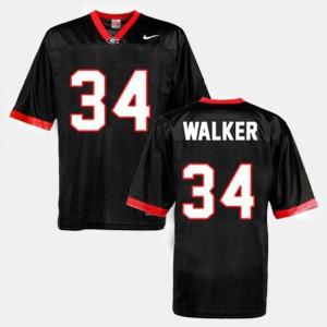 For Men's Georgia Bulldogs #34 Herschel Walker Black College Football Jersey 589523-218