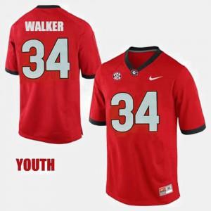 Youth UGA #34 Herschel Walker Red College Football Jersey 858805-209