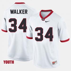 Kids University of Georgia #34 Herschel Walker White College Football Jersey 240779-524