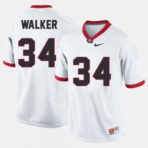 For Men's University of Georgia #34 Herschel Walker White College Football Jersey 597813-181
