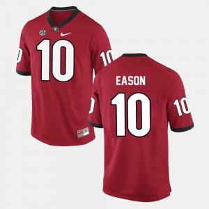 For Men Georgia #10 Jacob Eason Red College Football Jersey 647204-430
