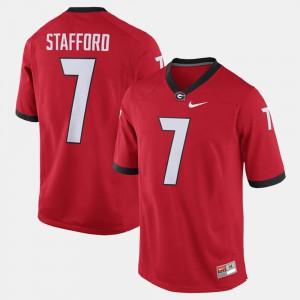 Men Georgia Bulldogs #7 Matthew Stafford Red Alumni Football Game Jersey 579767-929