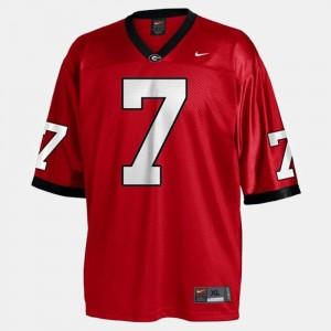 Mens UGA Bulldogs #7 Matthew Stafford Red College Football Jersey 290007-555