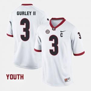 Youth UGA Bulldogs #3 Todd Gurley II White College Football Jersey 114247-913