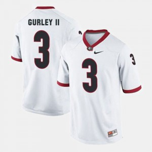 For Men UGA #3 Todd Gurley II White College Football Jersey 938431-204