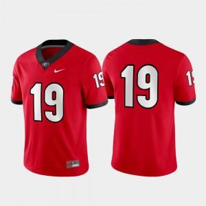 Mens UGA #19 Red Game Jersey 420872-609