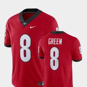 For Men's UGA Bulldogs #8 A.J. Green Red Alumni Football Game Player Jersey 464628-944