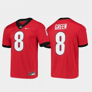 For Men University of Georgia #8 A.J. Green Red Game Alumni Player College Football Jersey 819643-142