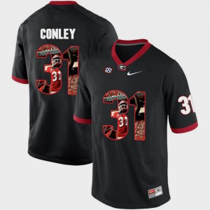 Men Georgia #31 Chris Conley Black Pictorial Fashion Jersey 513837-418
