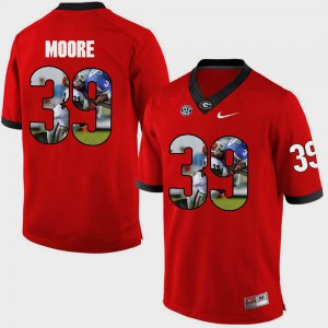Men's Georgia #39 Corey Moore Red Pictorial Fashion Jersey 416233-209