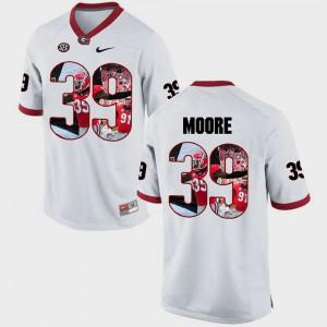 For Men Georgia #39 Corey Moore White Pictorial Fashion Jersey 932732-378