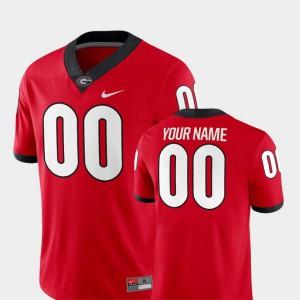 Mens University of Georgia #00 Red College Football 2018 Game Custom Jersey 644327-611
