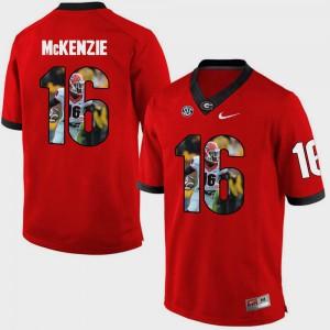 Mens Georgia #16 Isaiah McKenzie Red Pictorial Fashion Jersey 809403-167