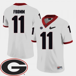 Mens UGA Bulldogs #11 Jake Fromm White College Football 2018 SEC Patch Jersey 169109-598