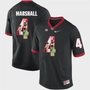 Men's UGA Bulldogs #4 Keith Marshall Black Pictorial Fashion Jersey 887136-797