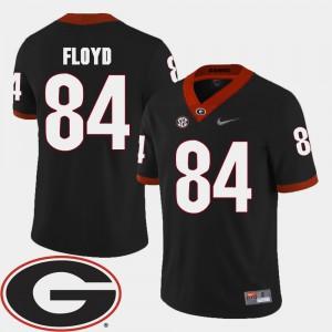 Men's Georgia Bulldogs #84 Leonard Floyd Black College Football 2018 SEC Patch Jersey 174954-838