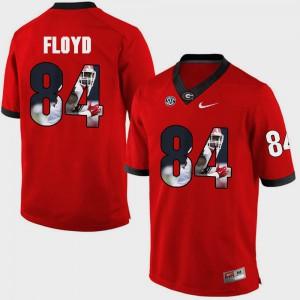 Men's Georgia #84 Leonard Floyd Red Pictorial Fashion Jersey 736305-193