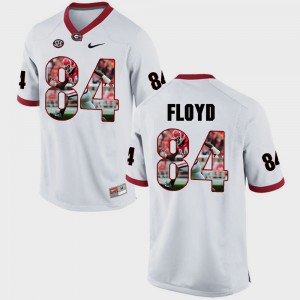 Mens University of Georgia #84 Leonard Floyd White Pictorial Fashion Jersey 527227-621