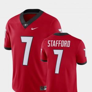 Mens UGA Bulldogs #7 Matthew Stafford Red Alumni Football Game Player Jersey 855893-117