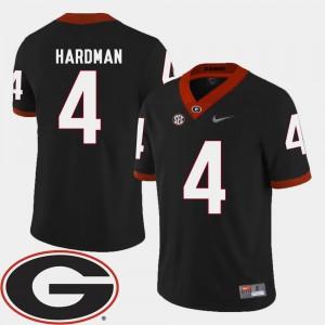 For Men GA Bulldogs #4 Mecole Hardman Black College Football 2018 SEC Patch Jersey 834020-126
