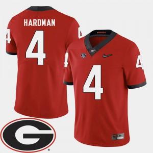 Men's University of Georgia #4 Mecole Hardman Red College Football 2018 SEC Patch Jersey 853744-263