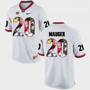 Men's UGA #20 Quincy Mauger White Pictorial Fashion Jersey 924625-445