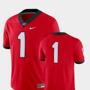 For Men's GA Bulldogs #1 Red College Football 2018 Game Jersey 323769-251