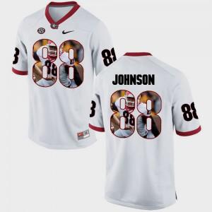 Men's Georgia #88 Toby Johnson White Pictorial Fashion Jersey 142509-793